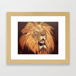 Brave Lion Framed Art Print