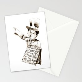 the POPO' paperboy Stationery Cards