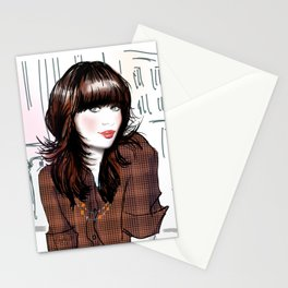 Zooey Deschanel Stationery Cards
