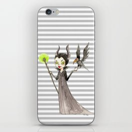 Maleficent and Diaval iPhone Skin