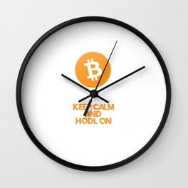 Bitcoin HODL Design Wall Clock