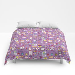 Proud To Be a Nurse Pattern / Purple Comforters