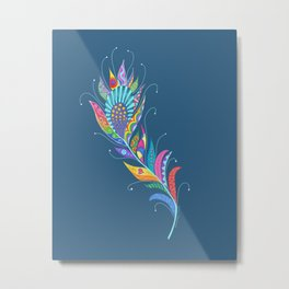 One Feather ... One World Metal Print