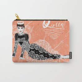 Think like a Queen : Audrey Hepburn Quote Carry-All Pouch