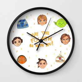 May the 4th be with you Wall Clock