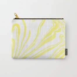 Yellow Marble Ink Watercolor Carry-All Pouch