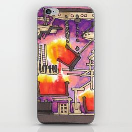Industrial Steel Architectural Illustration iPhone Skin