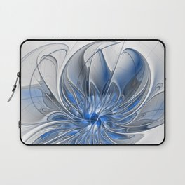 Abstract Art with Blue Laptop Sleeve