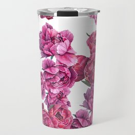 Pink Peonies Travel Mug