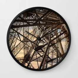 France Photography - Inside Of The Eiffel Tower Wall Clock