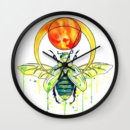 Scarab Beetle Wall Clock