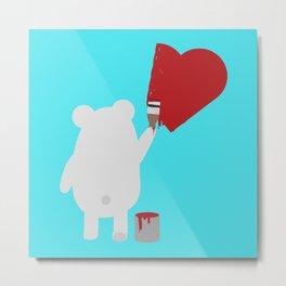 Polar Bear painting Metal Print