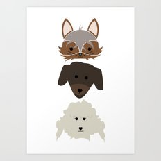 Three Pups Art Print