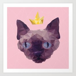 King Cat. Art Print