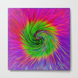 Psychedelic Swirl Metal Print
