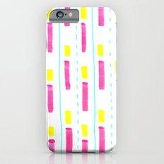 Pink and Lemon Stripes  iPhone 6s Slim Case