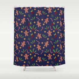 Christmas Xmas pattern Shower Curtain