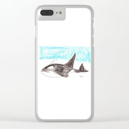 Orca Baby Clear iPhone Case