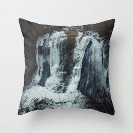 Upper McCord Creek Falls Throw Pillow