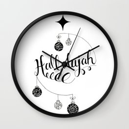 "Hand Written Holiday Themed ""Hallelujah"" Wall Clock"
