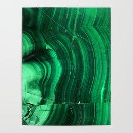 Malachite Texture Poster