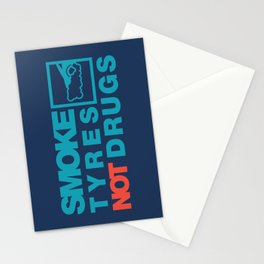 SMOKE TYRES NOT DRUGS v2 HQvector Stationery Cards