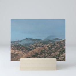 Utah Mountain Misty Clouds Landscape Scrub Mini Art Print