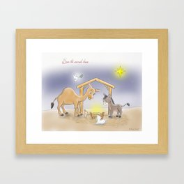 Even The Animals Knew... Framed Art Print