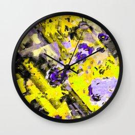Purple Yellow Passion Wall Clock