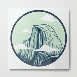 Half Dome Metal Print