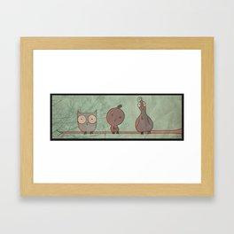 Fellow Feathers Framed Art Print