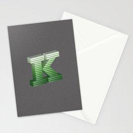 Letter K Stationery Cards