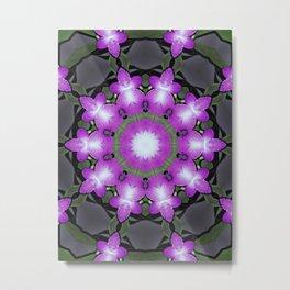 mandals violet flower Metal Print