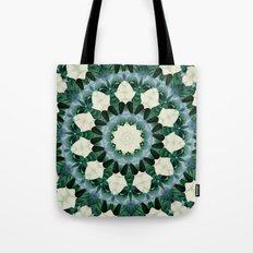 Sacramento Green and Cerulean Blue Mandala Tote Bag
