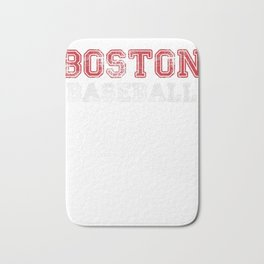 Boston Distressed Pro Baseball Team Championship T-Shirt Bath Mat