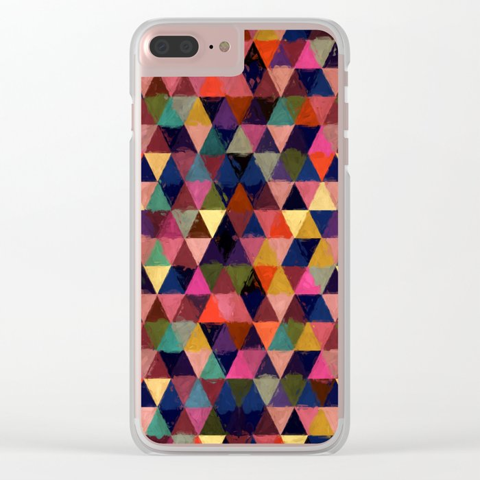 Abstract #374 Clear iPhone Case