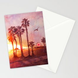 Sunset in Santa Monica Stationery Cards