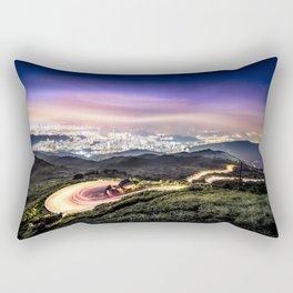 Hong Kong urban and nature nightscape Rectangular Pillow