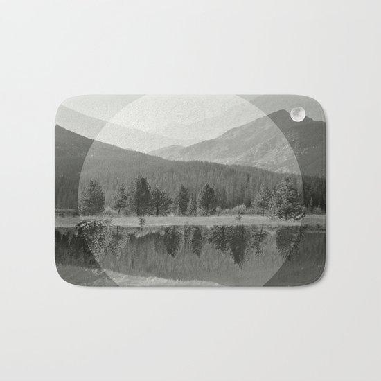 Mountain Mirror BW Bath Mat