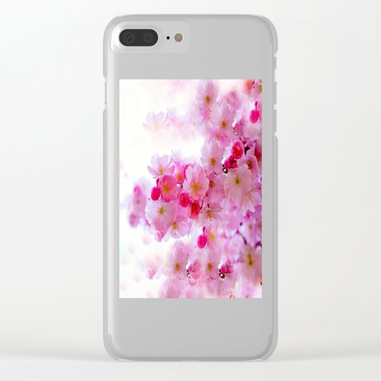 Cherry Blossom Tree So Pink Clear iPhone Case