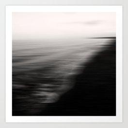 Flood. Abstract seascape. Art Print