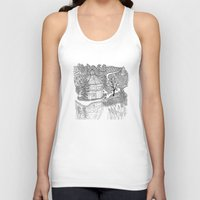 vermont Tank Tops featuring Vermont Round Barn, Waitsfield Vermont by Vermont Greetings
