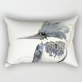 Belted Kingfisher Rectangular Pillow
