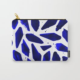 Cobalt Blue Ink Blots Carry-All Pouch