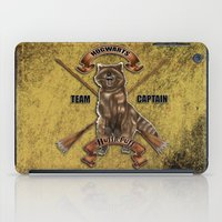 hufflepuff iPad Cases featuring Hufflepuff  Hogwarts Team Captain by JanaProject