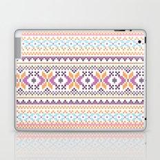 Pastel Orange Purple Abstract Aztec Girly Pattern Laptop & iPad Skin