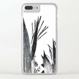 Watercolor Maize Foliage Clear iPhone Case