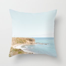 Travel photography Palos Verdes Ocean Cliffs Seascape Landscape VI Throw Pillow