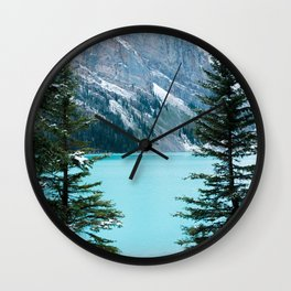 354. Louise Lake View, Banff, Canada Wall Clock