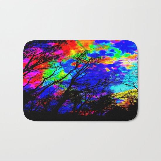 Colorful Trees Bath Mat